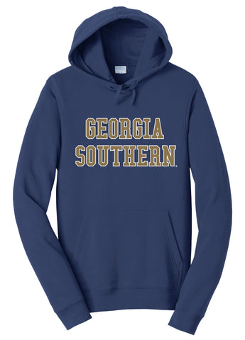 J2 Sport GS Georgia Southern University Eagles NCAA Unisex Block Hooded Sweatshirt