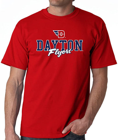 University of Dayton Campus Script T-shirt J2 Sport University of Dayton Flyers NCAA Unisex Apparel