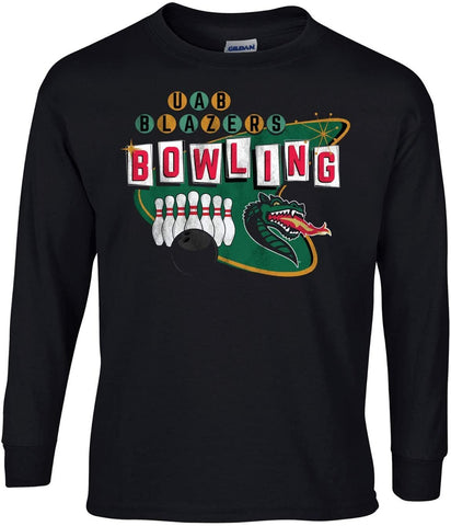 J2 Sport University of Alabama at Birmingham Blazers NCAA Retro Bowl Long Sleeve T-Shirt