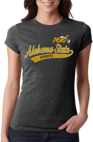J2 Sport Alabama State University Hornets NCAA Old School Sport Tail Womens T-shirt
