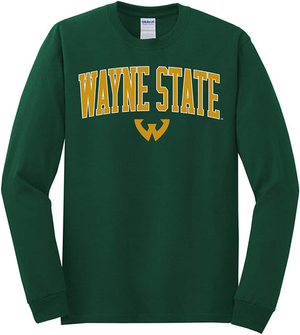 J2 Sport WSU Wayne State University Warriors NCAA Unisex Long Sleeve T-Shirt