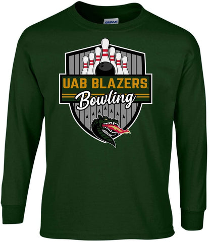 J2 Sport University of Alabama at Birmingham Blazers NCAA Bowling Badge Long Sleeve T-Shirt