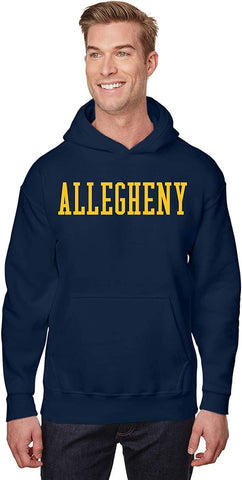 J2 Sport Allegheny College Gators NCAA Block Navy Hooded Sweatshirt