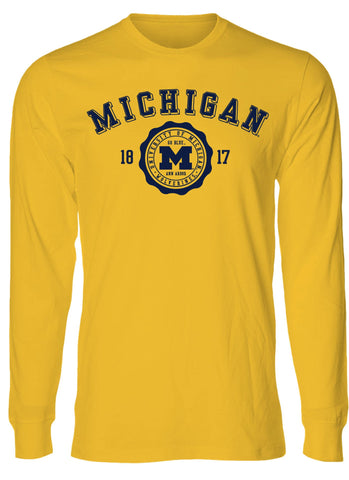 J2 Sport U of M University of Michigan Wolverines NCAA 3D Seal Youth Long Sleeve T-Shirt