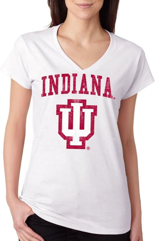 J2 Sport Indiana Hoosiers NCAA Jumbo Bleach Junior T-Shirt