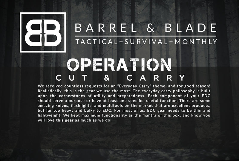 Operation Cut & Carry - LEVEL 1