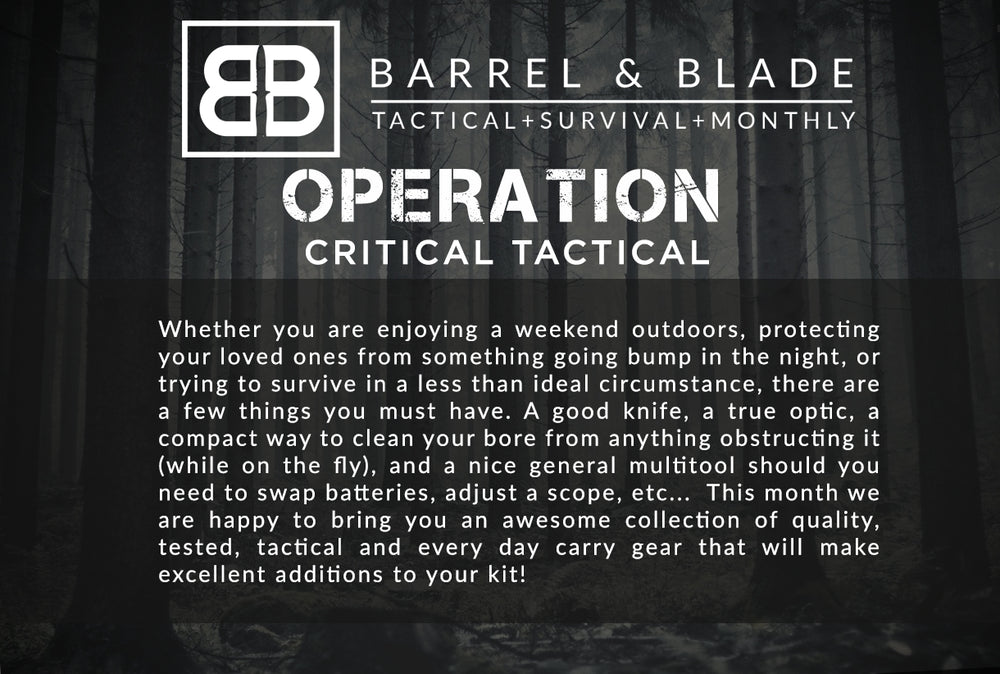 Operation Critical Tactical - LEVEL 1