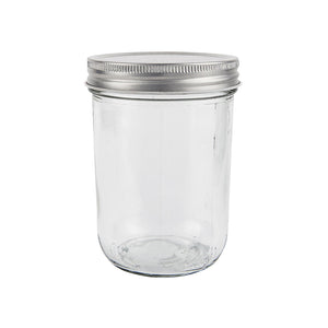 Set of 4 Glass Jars with Silver Lid 200ml
