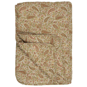 Rust & Mustard Paisley Patterned Quilt 130 x 180cm