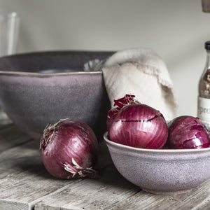 Load image into Gallery viewer, Lavender Hand Glazed Stoneware Serving Bowl