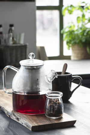 Glass Teapot with Stainless Steel Strainer