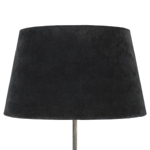 Load image into Gallery viewer, 27 x 35/45cm Charcoal Black Velvet Lampshade