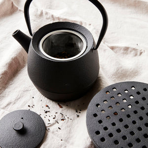 Black Cast Iron Pot Warmer