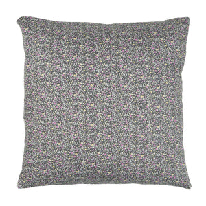 50 x 50 cm Charcoal, Lilac, Magenta & Yellow Ditsy Floral Cushion Cover
