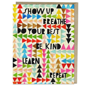Show up, Breathe Card