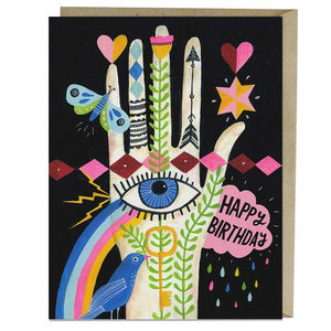 Load image into Gallery viewer, Rainbow Hand Birthday Card