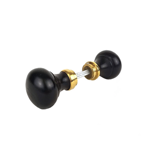5cm Ebonised Brass Door Knob Set