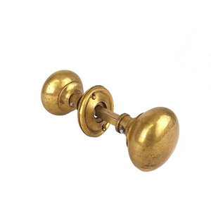 Load image into Gallery viewer, 5.5cm Antique Brass Hollow Door Knob Set