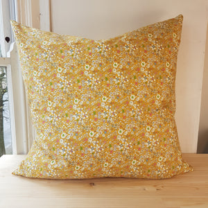 60 x 60 cm Yellow Ditsy Floral Cushion Cover