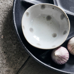 Load image into Gallery viewer, Set of 3 Mini Dots Stoneware Dipping Bowls