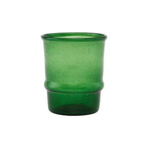 Set of 2 Dark Green 'Jeema' Glass Tumblers