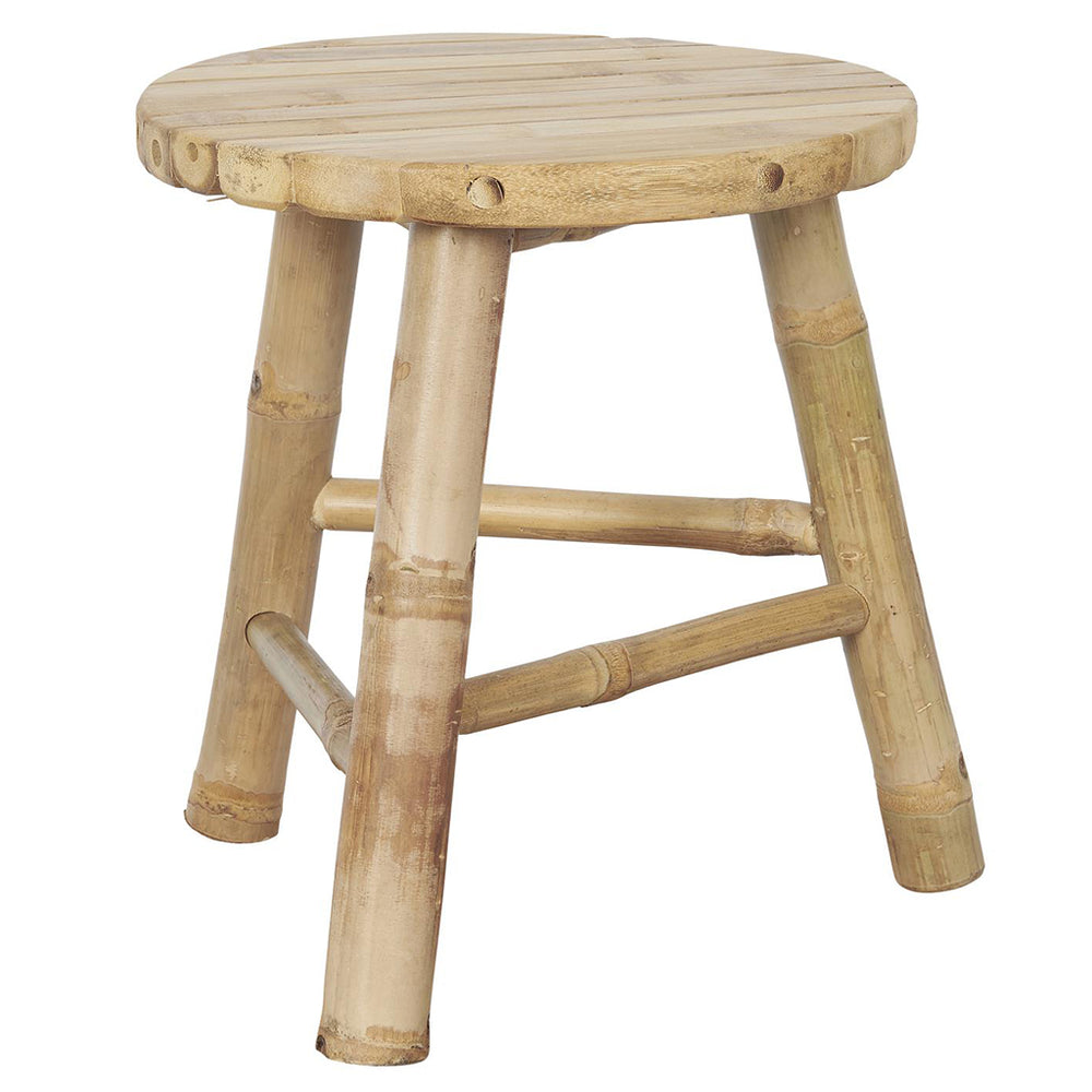 Load image into Gallery viewer, Three Legged Bamboo Stool