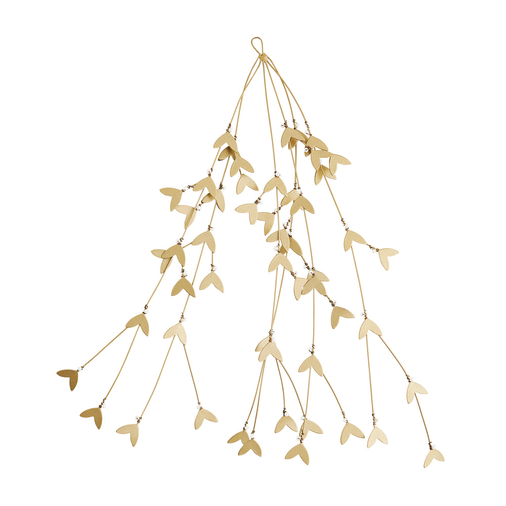 Load image into Gallery viewer, Iron Mistletoe Antique Brass Garland Hanging Decoration