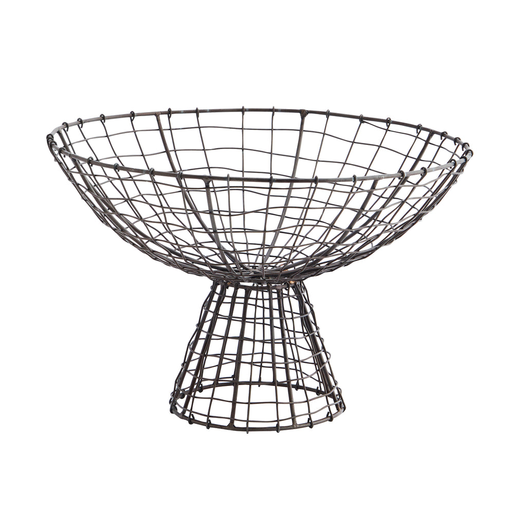 Iron Wire Basket on a Stand