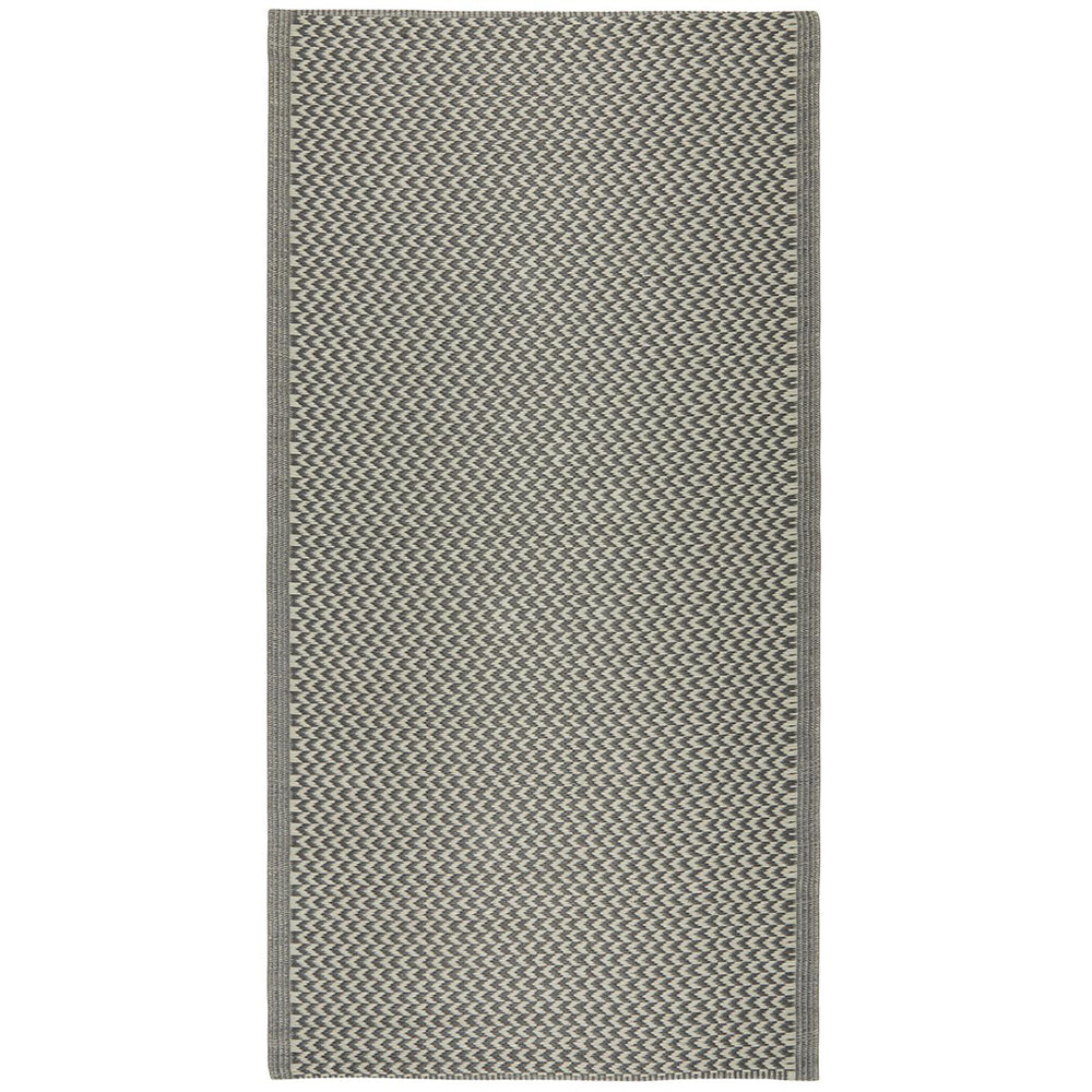Smokey Grey Chevron Pattern Recycled Plastic Mat 90 x 180cm