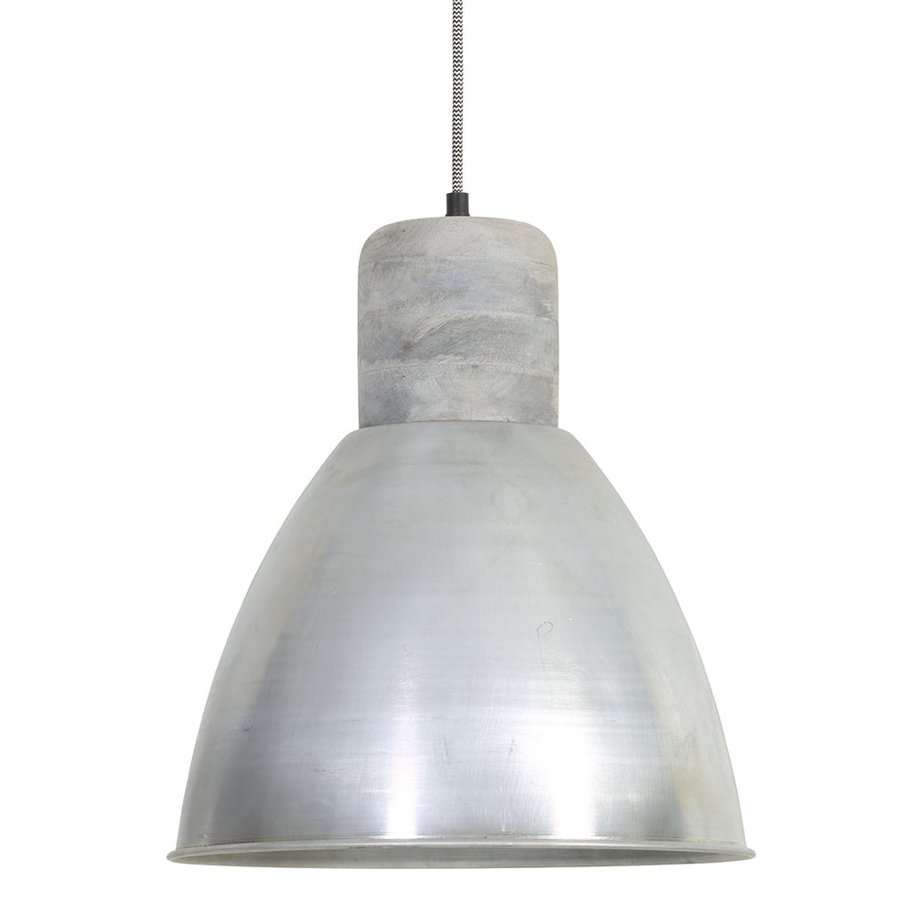ISMAY wood weather barn+antique silver pendant