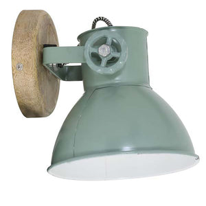 Load image into Gallery viewer, Elay Plug In Wall Light, Industrial Green