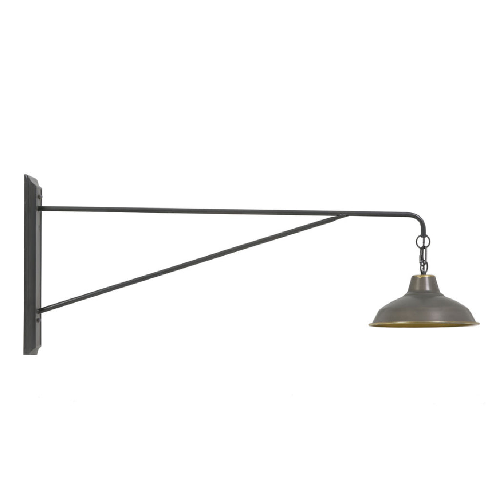 """Avoca"" Antique Grey Wall Lamp"