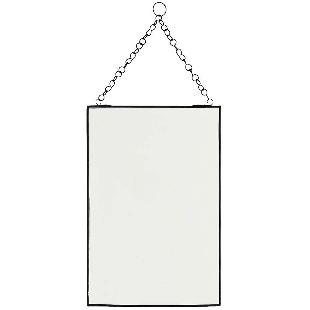 Hanging mirror with black frame, 20x30cm