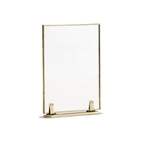 Brass Photo Frame on Foot, 13 x 18 cm