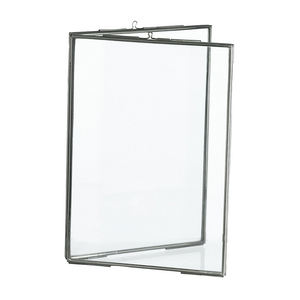 Silver Standing Double Photo Frame, 13 x 18 cm