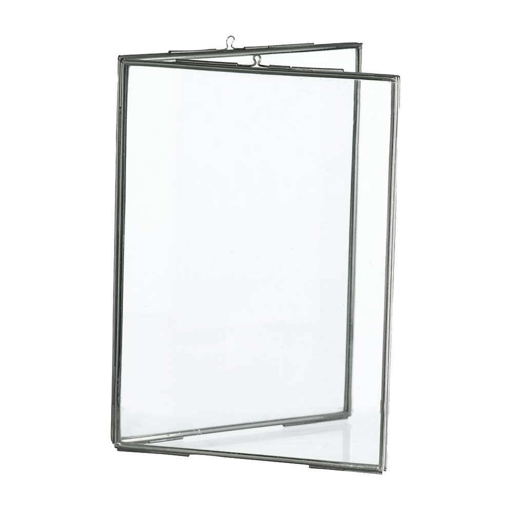Silver Standing Double Photo Frame, 10 x 15cm