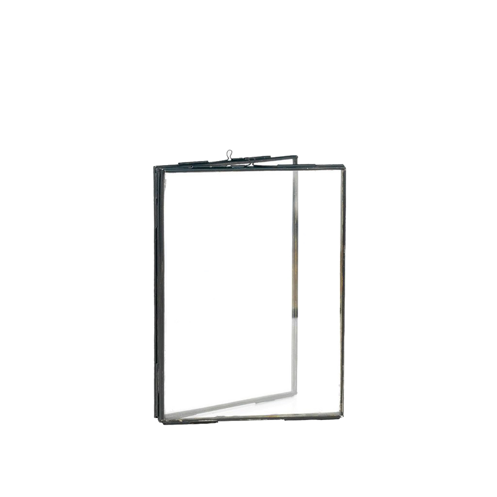 Black Standing Double Photo Frame, 13 x 18 cm