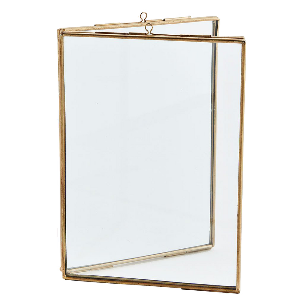 Load image into Gallery viewer, Brass Double Standing Frame, 13 x 18 cm