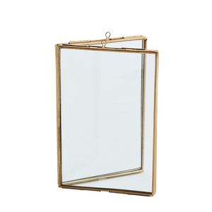 Brass Standing Double Frame, 10 x 15 cm