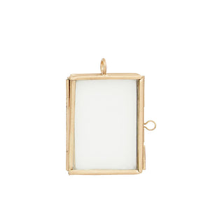 Set of 3 Mini Brass Frames, 5 x 4 cm