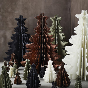 Standing Recycled Paper Pulp Copper Christmas Tree, 23cm