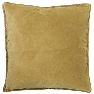 Mustard Yellow Cotton Velvet Cushion Cover, 50 x 50 cm