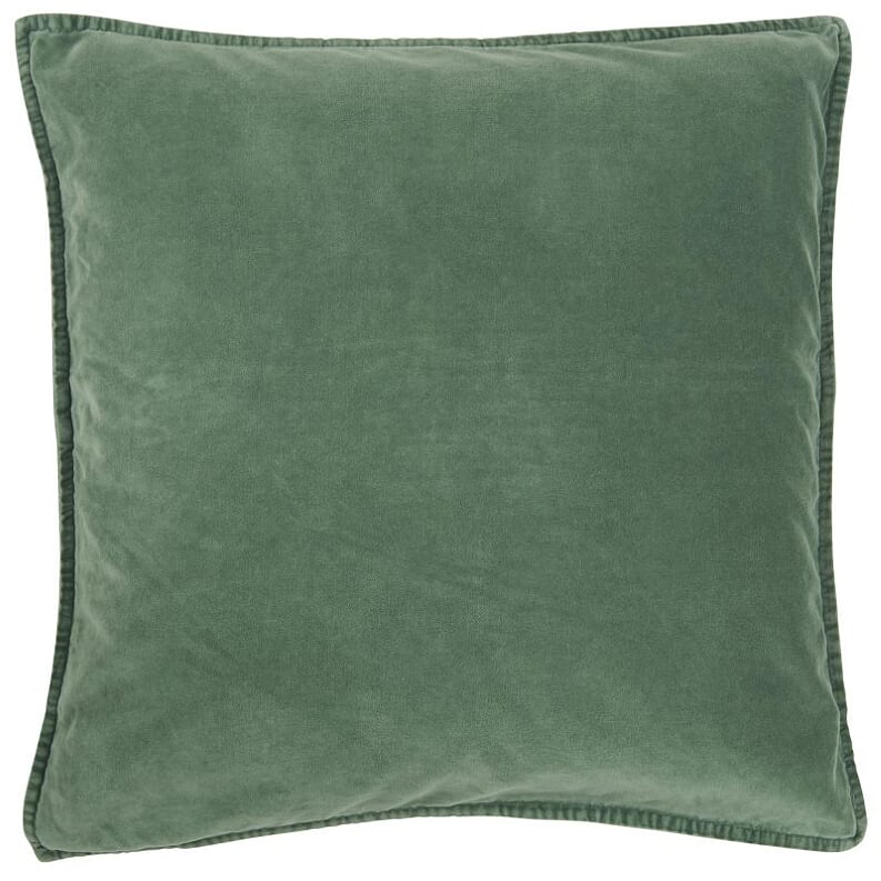 Forest Green Cotton Velvet Cushion Cover, 50 x 50 cm