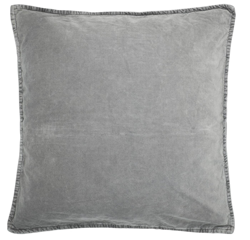Load image into Gallery viewer, 50 x 50 cm Light Grey Cotton Velvet Cushion Cover