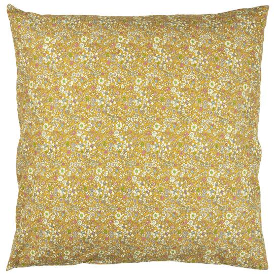 Yellow Ditsy Floral Cushion Cover, 60 x 60 cm