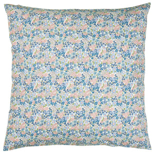 60 x 60 cm Sky Blue with Green & Pink Ditsy Floral Cushion Cover