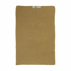 Mustard Yellow Knitted Cotton Towel