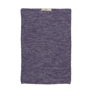 Purple Melange Knitted Cotton Hand Towel