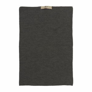 Dark Grey Melange Knitted Cotton Hand Towel