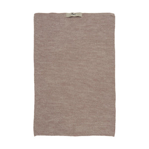 Dusty pink Melange Knitted Cotton Hand Towel